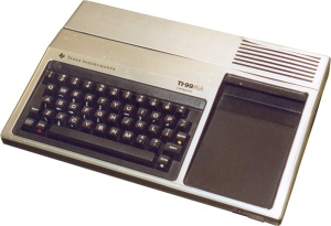 I remember playing on a TI99 in the early 1980s.